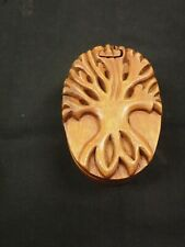 TREE OF LIFE WOODEN PUZZLE JEWELRY BOX HANDCRAFTED