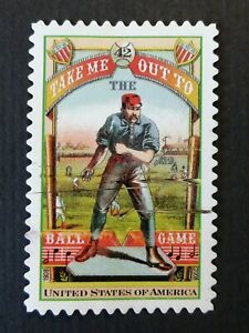 US unique error baseball stamp 42 cents from 2008.