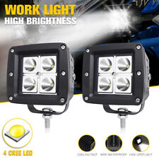 """2x 3"""" CREE LED Work Light Fog Driving Spot Lamp Car OffRoad Motorcycle Universal"""