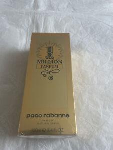 Paco Rabanne One Million Parfum 100ml Pure Parfum 100%Genuine BNIB Sealed PRP£75