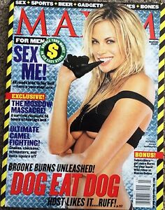 MAXIM MENS MAGAZINE 2003 MARCH #63 BROOKE BURNS ELEONORA DI MIELE MYA