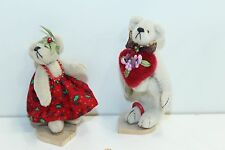 """Little Gem Bear Holiday Set Christmas and Valentines Day Bears Boy + Girl 2.5"""""""