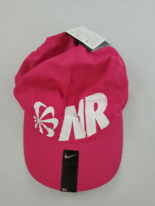 new NIKE Dri-Fit adult unisex hat running NR 434704 AW84 pink red one-size $25