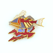 """Picasso Trigger Fish� Brooch by Maui Artist Robert Lynn Nelson. New"