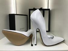 38 16cm Elite Heels Sexy high heels patent white weiss pumps sandals fetish