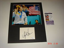 MATTED Apolo Anton Ohno Signed Autograph CUT 11x14 JSA CERT MEDAL FREE SHIP
