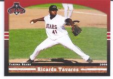 2008 Yakima Bears Right Hand Pitcher RICARDO TAVARES