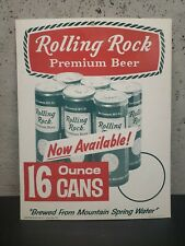 Rolling Rock Beer Advertisement Cardboard