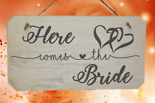 Here Comes The Bride Wooden Page Boy or Flower Girl Wedding Sign
