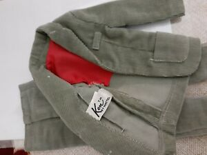 Vintage Matell KEN green corduroy slacks and jacket suit 1960's