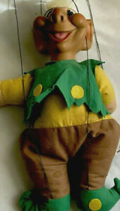 Knickerbocker Terry Troll Marionette Puppet 1964 Vinyl head cloth body Vintage