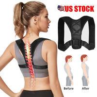 Posture Corrector Back Support Brace Figure Neck Shoulder Lumbar Pain Relief US