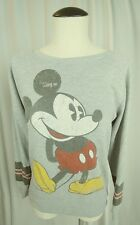 DISNEYLAND Distressed MICKEY MOUSE Women's  Sweater Pullover Size XSmall Gray