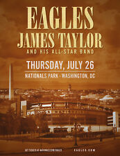 Eagles / James Taylor 2018 Washington Dc Concert Tour Poster - Folk / Soft Rock