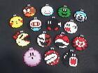 Nintendo Inspired Perler Bead Christmas Ornaments - Set of 15 - With Hooks