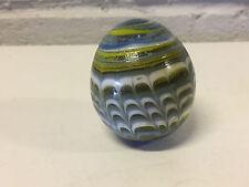 Vintage Antique Unusual Egg Shape / Form Glass Marble