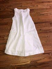 Tartine et Chocolat Girls white Sleeveless Dress Size 6A