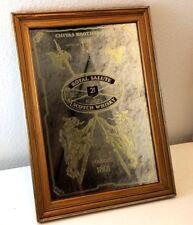 New listing Chivas Brothers Ltd Bar Pub Scotland Mirror Scotch authentic Wood Frame Beer Vtg