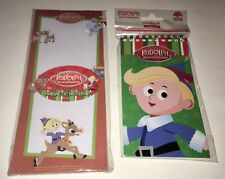 🎄🎄Christmas Rudolph Magnetic 40 Sheet Notepad & Hermey Notebook🎄🎄