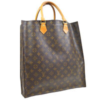 LOUIS VUITTON SAC PLAT HAND TOTE BAG PURSE MONOGRAM CANVAS M51140 MI0050 39392