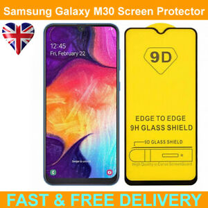 9D Edge to Edge Tempered Glass Screen Protector For Samsung Galaxy M30