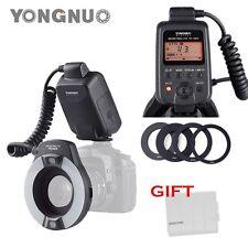 YONGNUO YN-14EX LITE E-TTL LED Flash Light w/ Macro Rings Adater for Canon