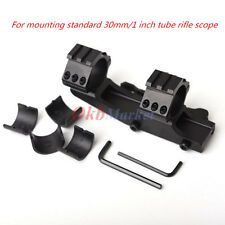 Dual Ring Cantilever Scope Rail Mount for 1'' 30mm Tube Rifle Picatinny Weaver