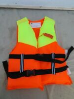 CHILDS BUOYANCY AID,SAILING CANOEING,55 TO 75 CM CHEST,25>50 KILO,2 BELTS,CLEAN