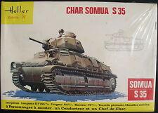 HELLER 793 - CHAR SOMUA S 35 - 1:35 - Panzer Modellbausatz - Tank Model Kit