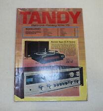 Tandy Katalog Prospekt 1974 / 75 Computer Elektronik HIFI wie Conrad Top
