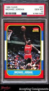 1986-87 Fleer Basketball #57 Michael Jordan Rookie PSA 10 Gem Mint RC BULLS