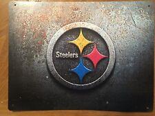 Tin Sign Vintage Pittsburgh Steelers Nfl