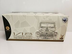 Lucky Die Cast 1946 Ford Sportsman Woody 1/18 Signature Series Black NIB HTF