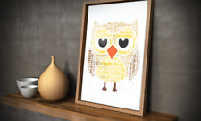 Personalised Teacher Word art Gift | Teaching Assistant Gift | Brownie Gift