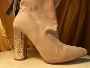 New Sock Ramone Boots Stocking Stretchy High Gold Heels Luxury Boots Shoes
