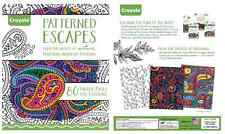 Adult Coloring Book CRAYOLA Patterned Escapes 80 Designs Color for Grown Ups