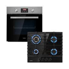 Set four éléctrique encastrable 2300 W + Table de cuisson 4 fois gaz - Noir