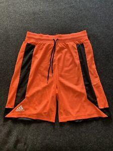 Adidas Basketball Club Shorts Orange Mens XL Climacool