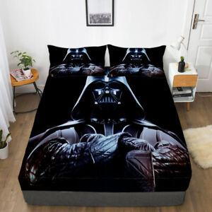 Star Wars Darth Vader Fitted Sheet 3PCS Bed Sheet & Pillowcase Fans Bedding set