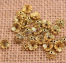 100PCS Tibetan Silver Spacer beads Flowers Bead Caps Findings 8MM JK3113