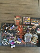 world of warcraft trading card game lot With Miniature Cards And Playing Mat