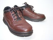 ROCKPORT Womens Oxford Walking Shoes Size 6.5 Brown Leather Pebbled Lace Up
