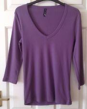 Ladies 3/4 Sleeved Top - Size 10 - M&S - Purple - VGC