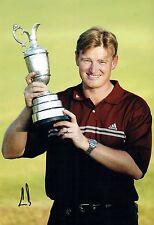 Ernie ELS SIGNED AUTOGRAPH 12x8 Photo 1 AFTAL COA 2002 Muirfield Golf Winner
