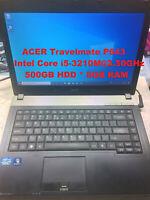 "ACER Travelmate P643_Intel Core i5-3210M@2.50GHz_500GB HDD_8GB RAM_14.0"" Screen"