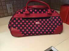 "Gloria Vanderbilt 20"" wheeled duffel polka dot great carry-on!"