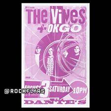 New listing The Vines & Ok Go 200? Original 11x17 Concert Poster.