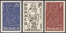 Monaco 1954 St J-B de la Salle/Education/People/History/Welfare 3v set (n43795)