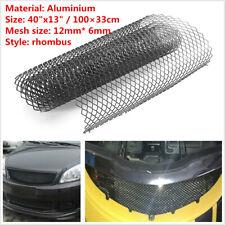 Aluminum Rhombus Mesh Grill For Car Bumper Fender Hood Vent Body Opening Kit