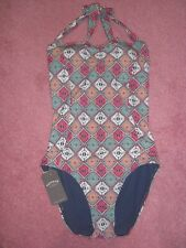 BNWT Ladies Swimming Costume with Tummy Control Panel by Fat Face. Size 12